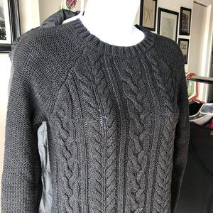 Old Navy // Charcoal Gray Cable Knit Sweater